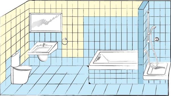 Фото: Основные места в ванной нуждающиеся в качественной защите