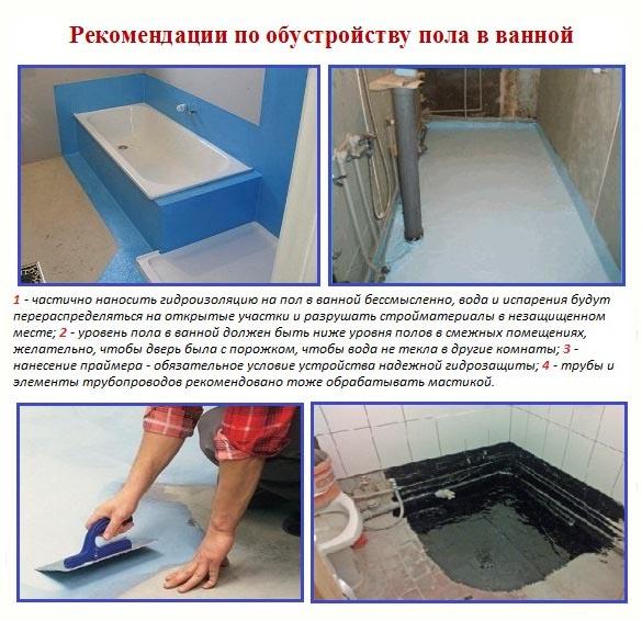 Оклеечная гидроизоляция ванной