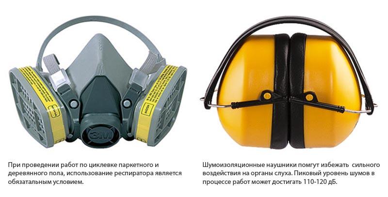 Фото: Техника безопасности предусматривает использование респиратора и наушников