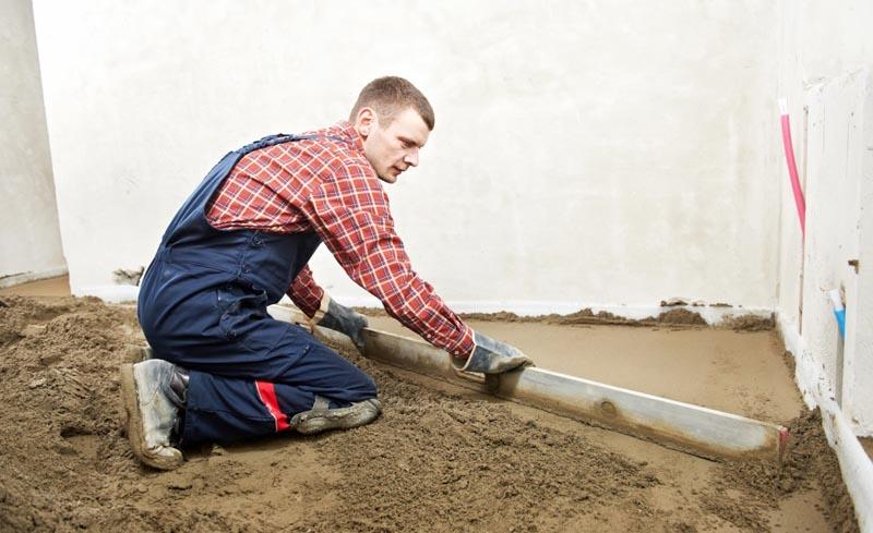 Фото: Использование нивелирующих смесей и сухой стяжки