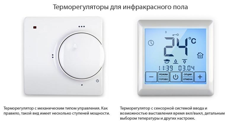 Фото: Основные виды регуляторов температуры
