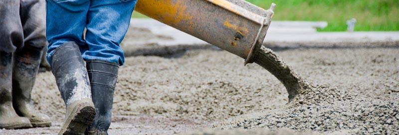 Фото: Автоматическая подача бетона на место заливки