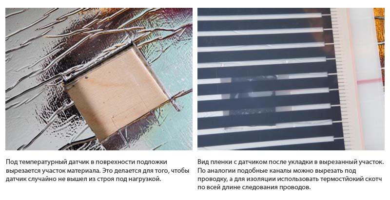Фото: Устройство подложки под выпирающими участками