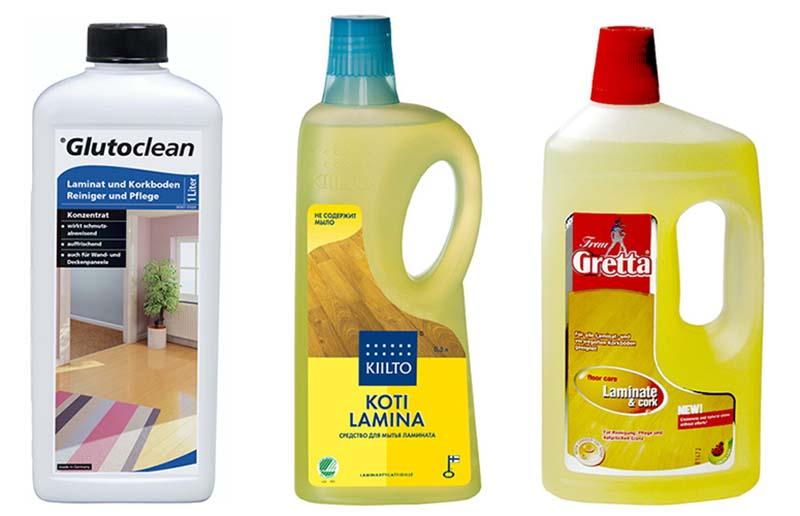 Фото: Моющие средства для уборки ламинированной доски