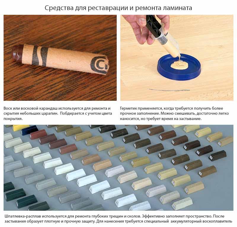 Фото: Ремонтный набор для защитного слоя ламината