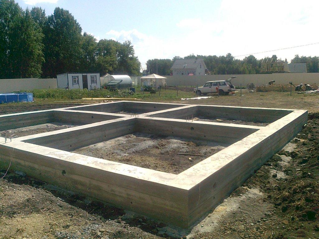 Фото: Ленточный фундамент квадратной формы